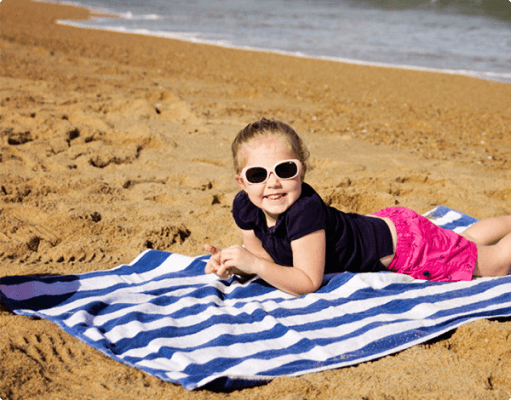 Personalized beach and pool towels for kids and adults