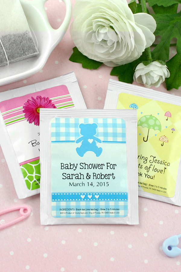 Personalized Baby Shower Tea Bag Favors