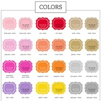 Personalized Baby Shower Label Color Options