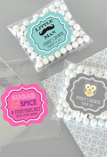 Personalized Baby Shower Clear Candy Bags