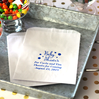 Personalized Baby Shower Flat Favor Bags