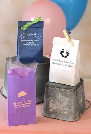 Personalized Baby Shower Paper Goodie Bags Set Of 25