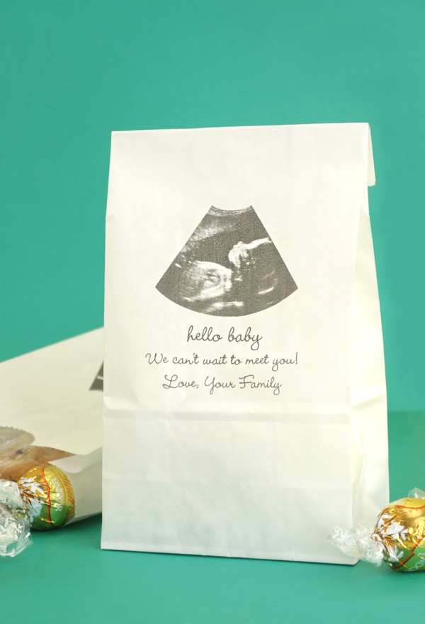 Personalized Baby Shower Photo Paper Favor Goodie Bags