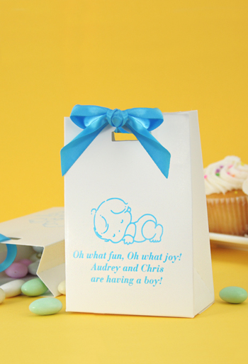 Personalized Baby Shower Mini Tote Favor Boxes