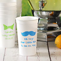 Custom Printed Plastic Stadium Baby Shower Cups