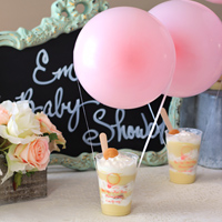 Up Up and Away Personalized Frosted Plastic Cups