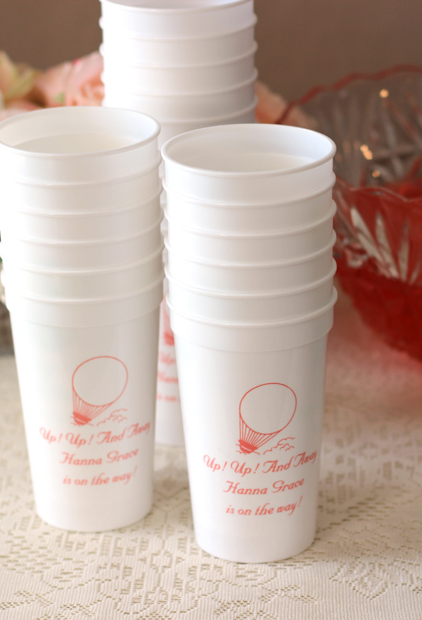 Up Up and Away Personalized Stadium Cups