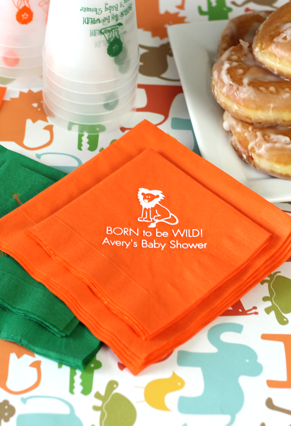 Custom Printed 3-Ply Paper Baby Shower Napkins
