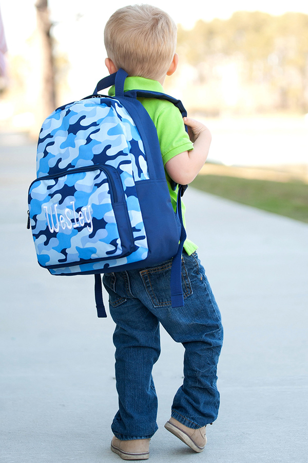 Personalized Cool Camo Preschool Backpack