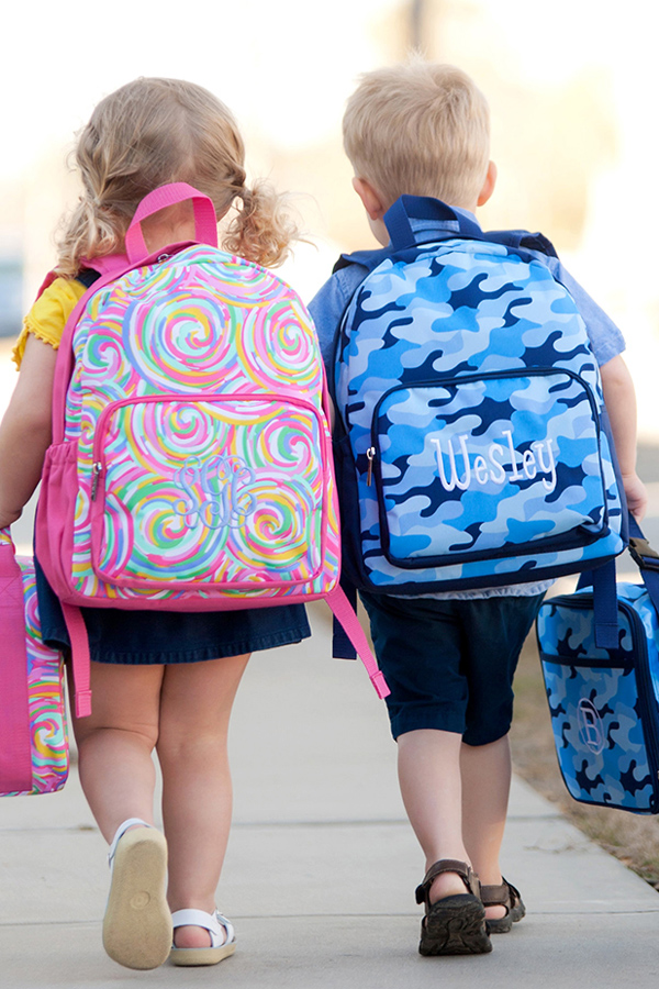 Personalized Summer Sorbet and Cool Camo Preschool Backpacks