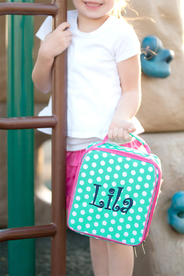 Personalized Hadley Bloom Soft-Sided School Lunch Bags
