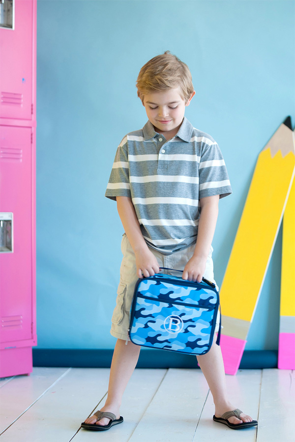 Personalized Cool Camo Soft-Sided School Lunch Bags