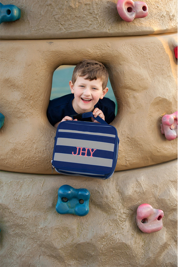Personalized Greyson Soft-Sided School Lunch Bags