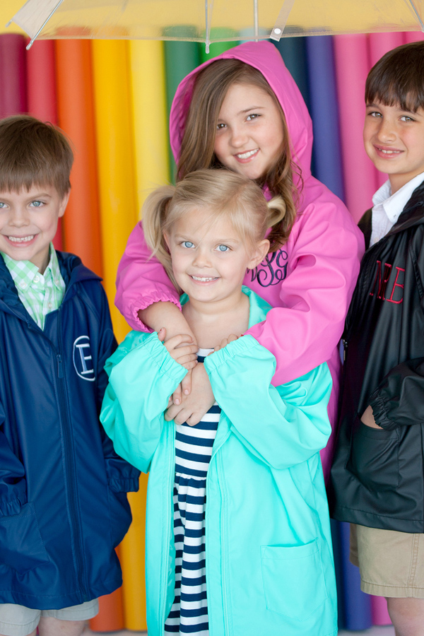 Personalized Kids Youth Rain Jackets