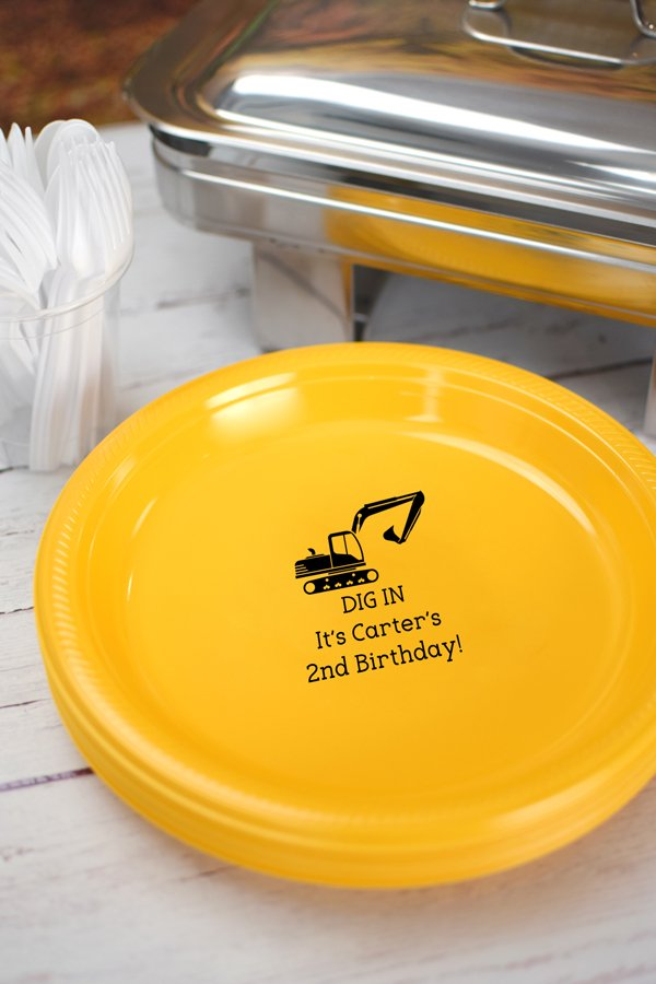 Custom Printed Plastic Birthday Party Plates