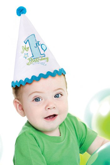 24CA600B First Birthday Hat Boys Md