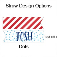 Personalized Nautical Birthday Party Straw Flags