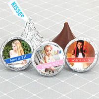 Personalized Birthday Photo Hershey's Kisses Favors