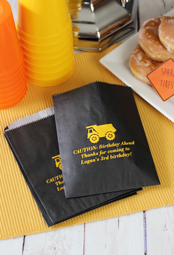 Personalized Birthday Party Flat Favor Bags