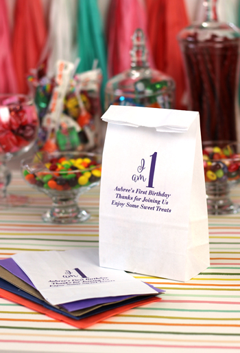 Personalized Birthday Party Paper Candy Bags