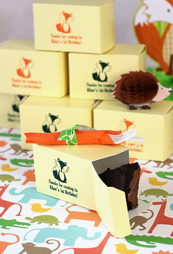 Custom Printed Birthday Party Cake Slice Favor Boxes