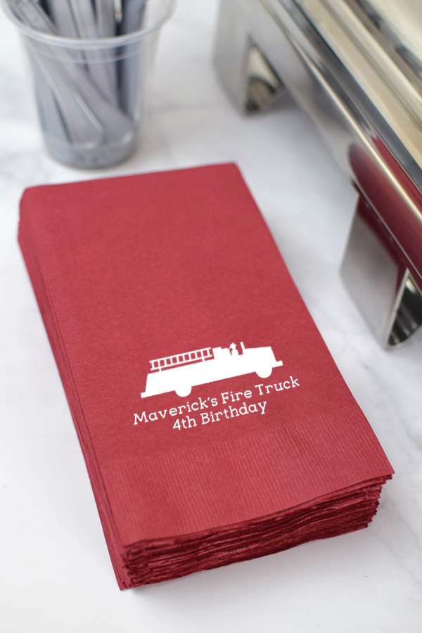 Custom Printed 3-Ply Paper Birthday Party Guest Towel Napkins
