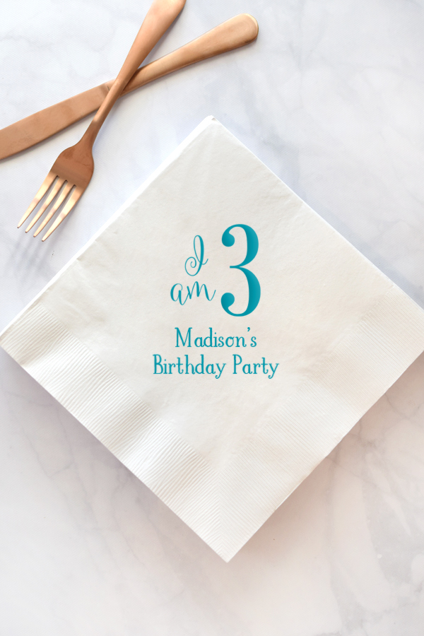Custom Printed Birthday Party Luncheon Napkins