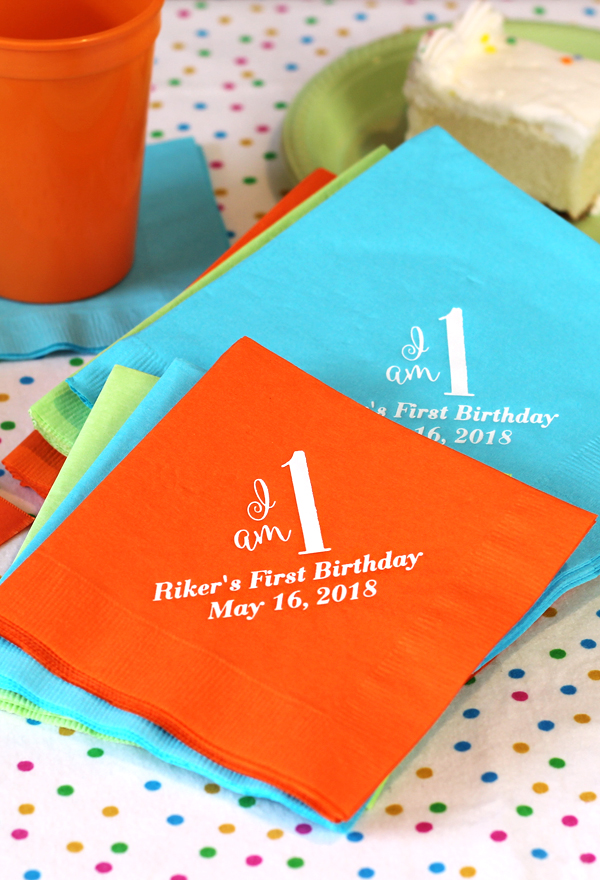 Custom Printed 3-Ply Paper Birthday Party Napkins