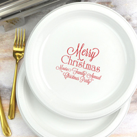 Christmas party dinner and buffet tableware