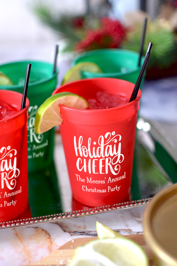 12 Oz. Stadium Christmas Party Cups