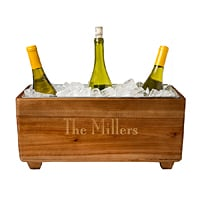 17 x 8 Custom Printed Rustic Wood Wine Trough