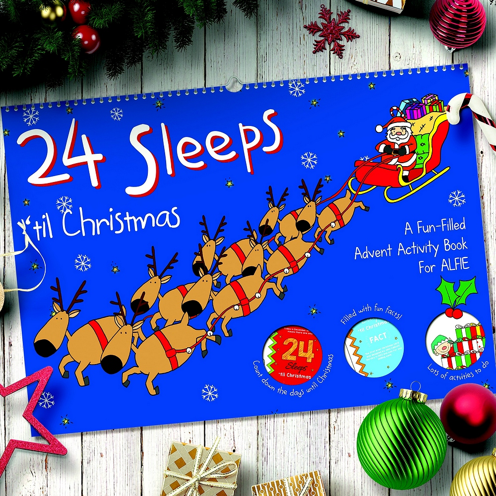 24 Sleeps Till Christmas Personalized Activity Book