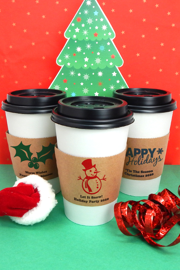 Personalized Insulated Coffee Cup Sleeves for Christmas