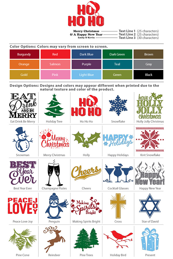Christmas Design Options