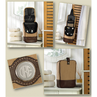 Personalized Canvas and Leather Travel Kit