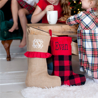Personalized Christmas Stockings in 8 Options