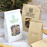Custom Printed Lined Christmas Tin Tie Goodie Bags