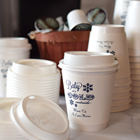 12 Oz Custom Printed Paper Comfort Cups with Matching Lids