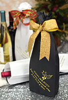 16 x 5 Custom Printed Christmas Wine Bottle Paper Gift Bags