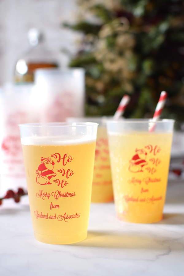 14 Oz Personalized Frosted Plastic Christmas Party Cups