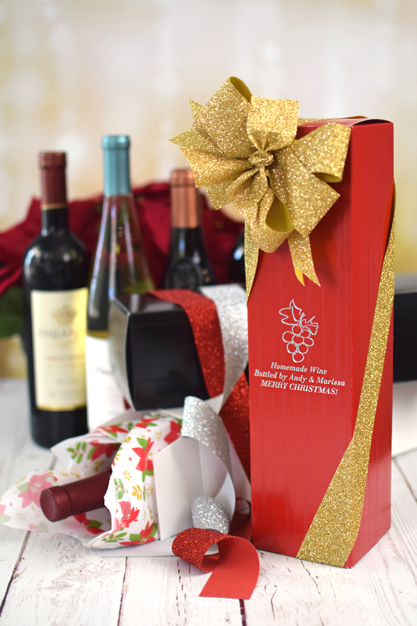 Holiday wine bottle gift boxes tippytoad for Diy wine bottle gifts