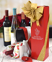 Personalized Holiday Wine Bottle Gift Boxes