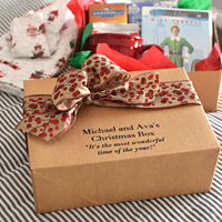 10 x 7 Custom Printed Kraft Christmas Gift Box