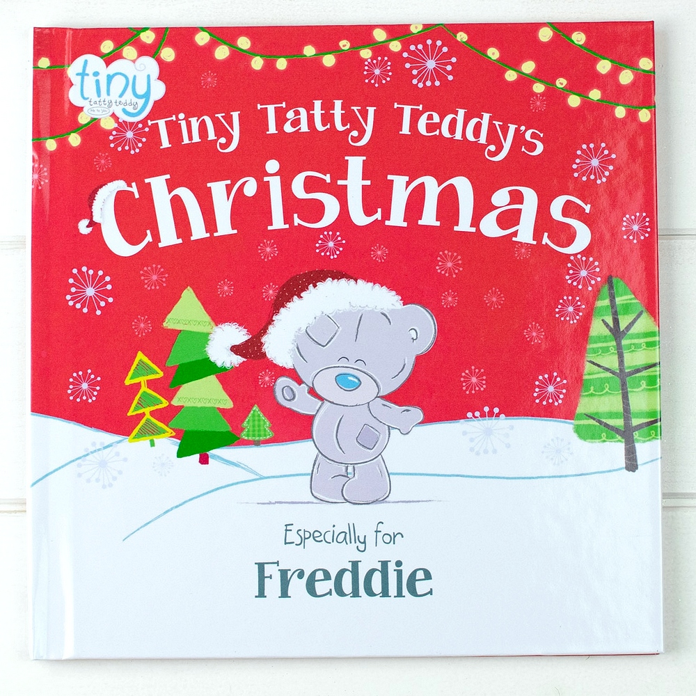 Tiny Tatty Teddys Christmas kids book personalized with child's name on hardback cover