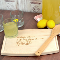 9x12 Inch Maple Hardwood Cutting Board laser engraved with a custom family recipe