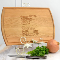 16 x 11 Custom Laser Engraved Hardwood Cutting Board