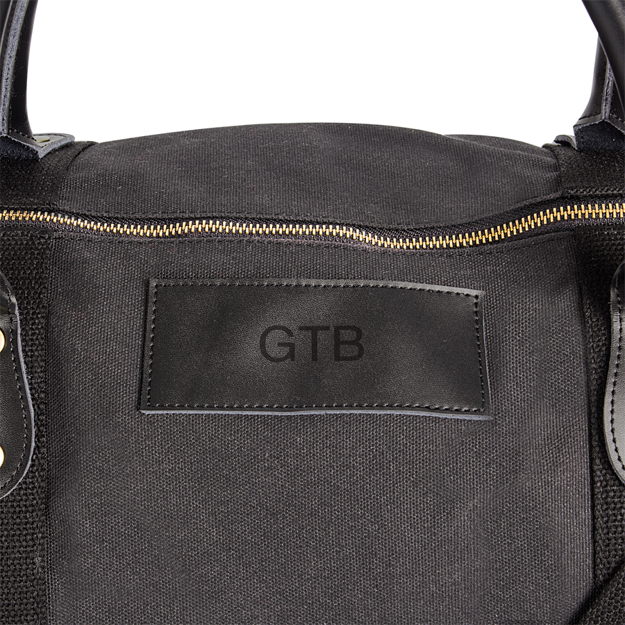 Personalized Black Duffle Bag