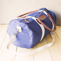 Navy Duffle Bag