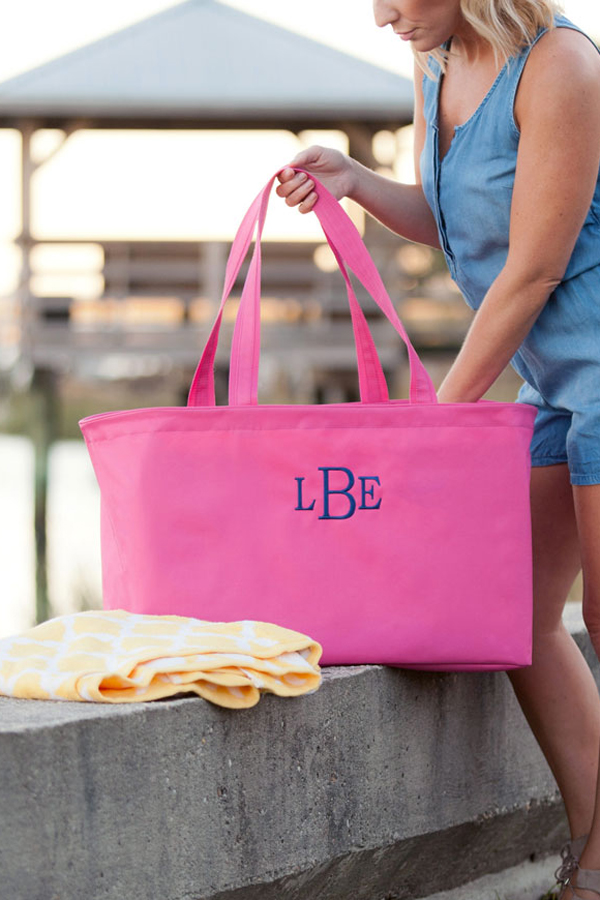 Hot Pink Oversized Utility Tote