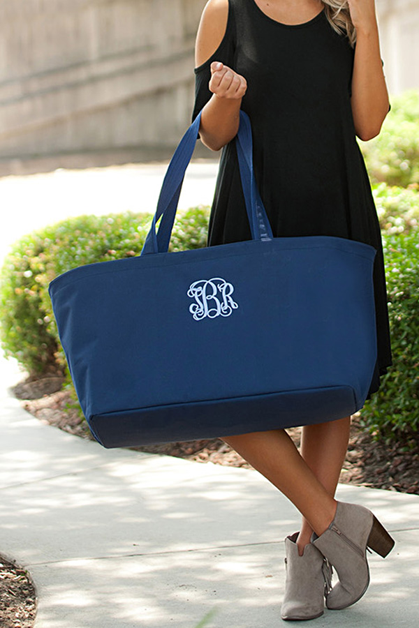 Navy Oversized Utility Tote